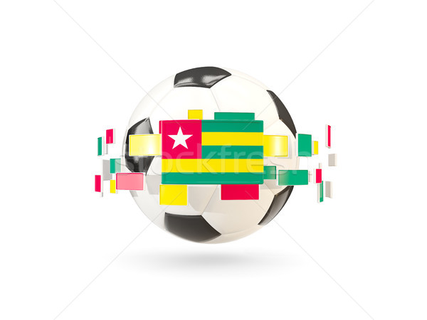 Soccer ball with line of flags. Flag of togo Stock photo © MikhailMishchenko
