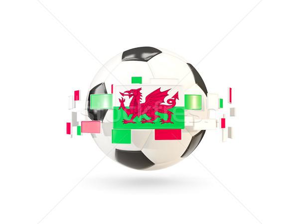 Balón de fútbol línea banderas bandera gales Foto stock © MikhailMishchenko