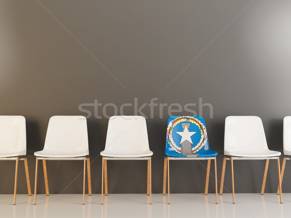Chair with flag of northern mariana islands Stock photo © MikhailMishchenko