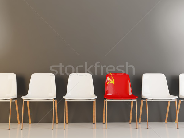 Chair with flag of ussr Stock photo © MikhailMishchenko