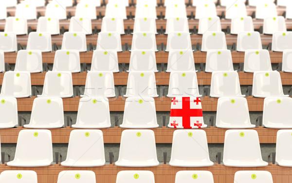Estadio asiento bandera Georgia blanco Foto stock © MikhailMishchenko