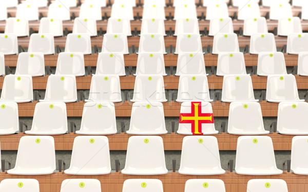 стадион сиденье флаг белый стульев Сток-фото © MikhailMishchenko