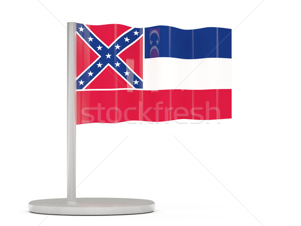 Flag pin with flag of mississippi. United states local flags Stock photo © MikhailMishchenko