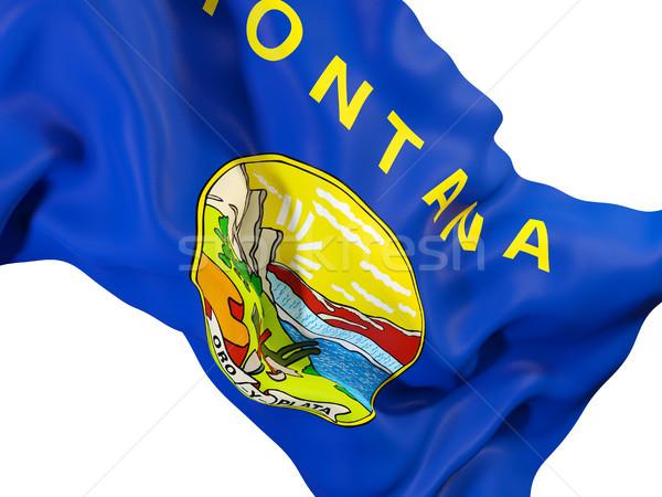 Montana zászló közelkép Egyesült Államok helyi zászlók Stock fotó © MikhailMishchenko