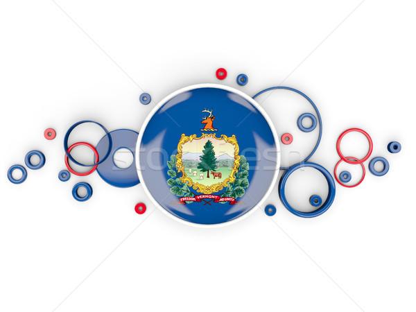 Bandeira Vermont círculos padrão Estados Unidos local Foto stock © MikhailMishchenko