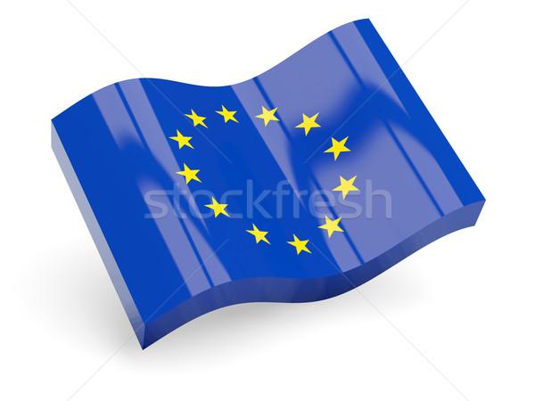 Stock photo: 3d flag of european union