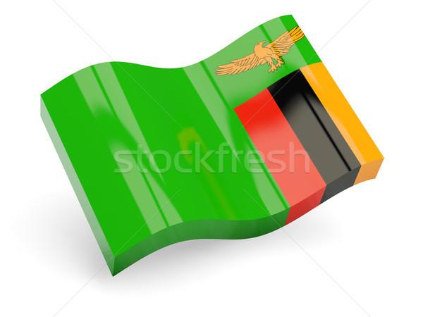 3D bayrak Zambiya yalıtılmış beyaz seyahat Stok fotoğraf © MikhailMishchenko