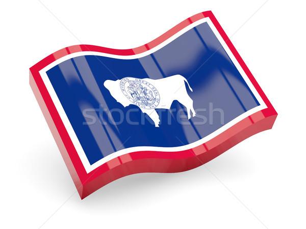 Golvend icon Wyoming vlag Stockfoto © MikhailMishchenko