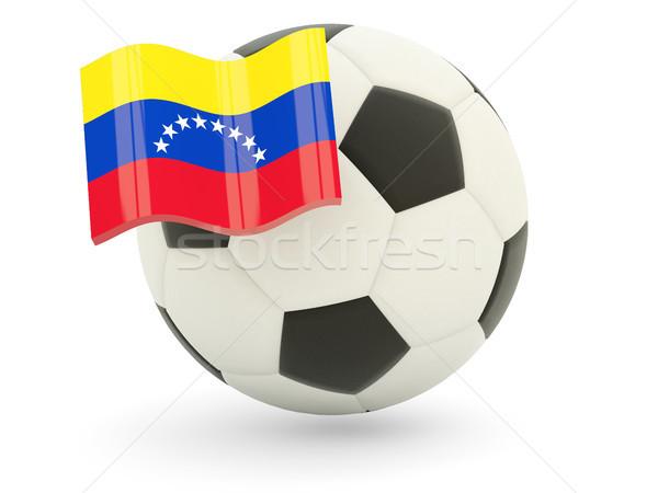 Futebol bandeira Venezuela isolado branco esportes Foto stock © MikhailMishchenko
