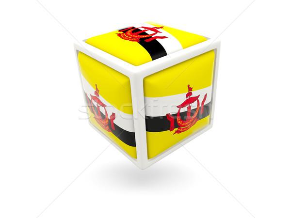 флаг Бруней куб икона изолированный белый Сток-фото © MikhailMishchenko