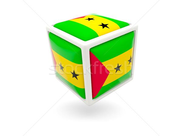 Flag of sao tome and principe. Cube icon Stock photo © MikhailMishchenko
