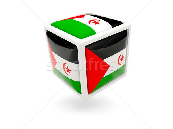 Stok fotoğraf: Bayrak · batı · sahara · küp · ikon · yalıtılmış