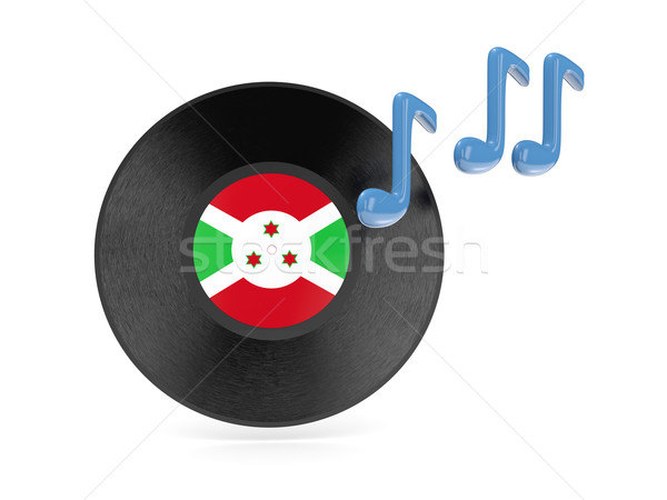 Vinil disco bandeira Burundi isolado branco Foto stock © MikhailMishchenko