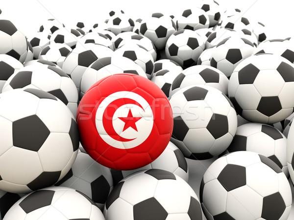 футбола флаг Тунис регулярный лет Сток-фото © MikhailMishchenko