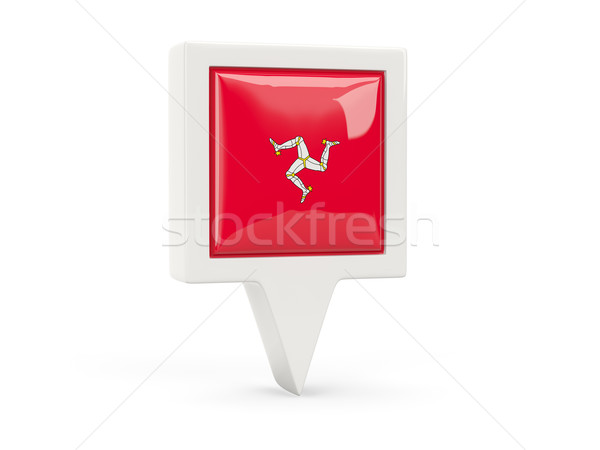 Square flag icon of isle of man Stock photo © MikhailMishchenko