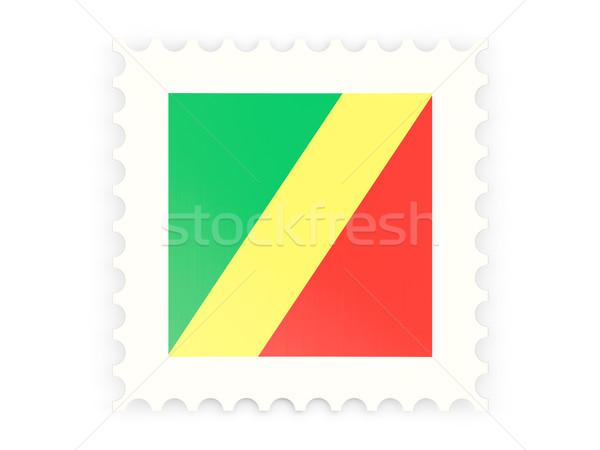 Icono república Congo aislado blanco Foto stock © MikhailMishchenko