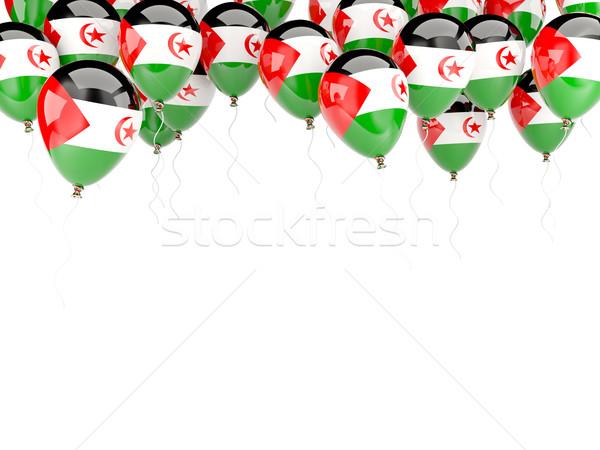 Balon çerçeve bayrak batı sahara yalıtılmış Stok fotoğraf © MikhailMishchenko