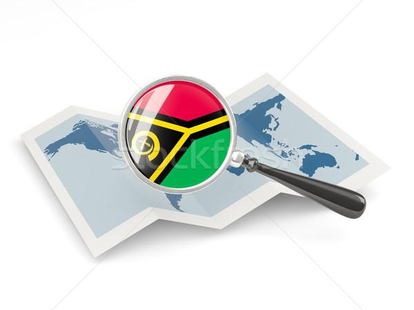 Bandeira Vanuatu mapa branco Foto stock © MikhailMishchenko