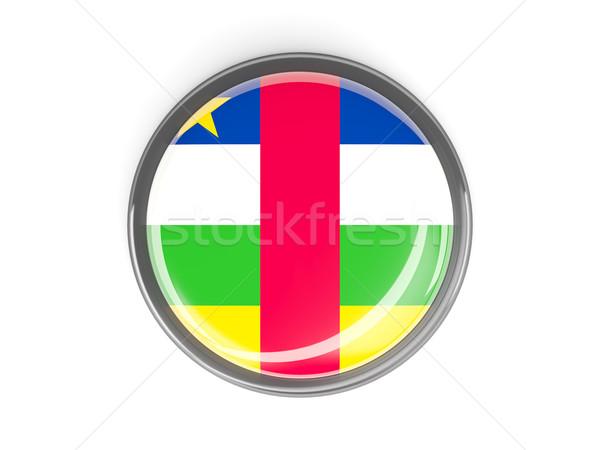 ボタン フラグ セントラル アフリカ 共和国 金属 ストックフォト © MikhailMishchenko