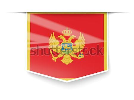квадратный икона флаг Черногория металл кадр Сток-фото © MikhailMishchenko