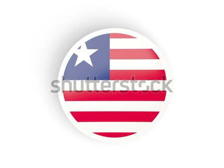 Round sticker with flag of liberia Stock photo © MikhailMishchenko