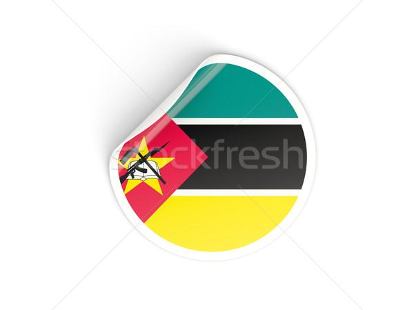 наклейку флаг Мозамбик изолированный белый путешествия Сток-фото © MikhailMishchenko