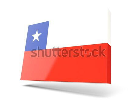 Square label with flag of chile Stock photo © MikhailMishchenko
