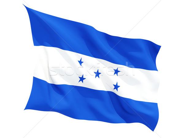 Bandeira Honduras isolado branco Foto stock © MikhailMishchenko