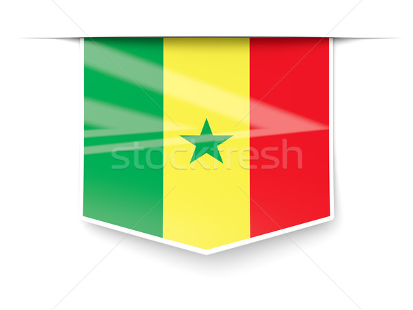 Square label with flag of senegal Stock photo © MikhailMishchenko