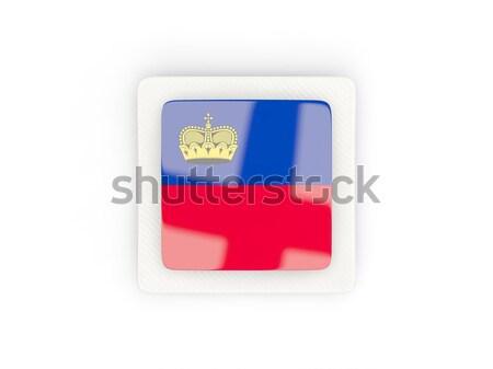 Tér fém gomb zászló Szlovénia izolált Stock fotó © MikhailMishchenko