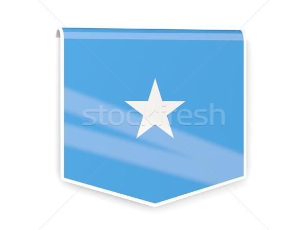 フラグ ラベル ソマリア 孤立した 白 にログイン ストックフォト © MikhailMishchenko