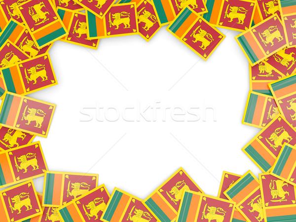Frame bandiera Sri Lanka isolato bianco Foto d'archivio © MikhailMishchenko