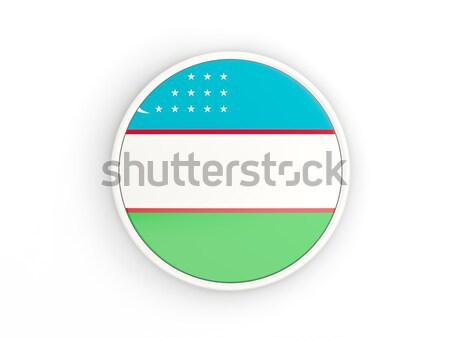 кнопки флаг Узбекистан металл кадр путешествия Сток-фото © MikhailMishchenko