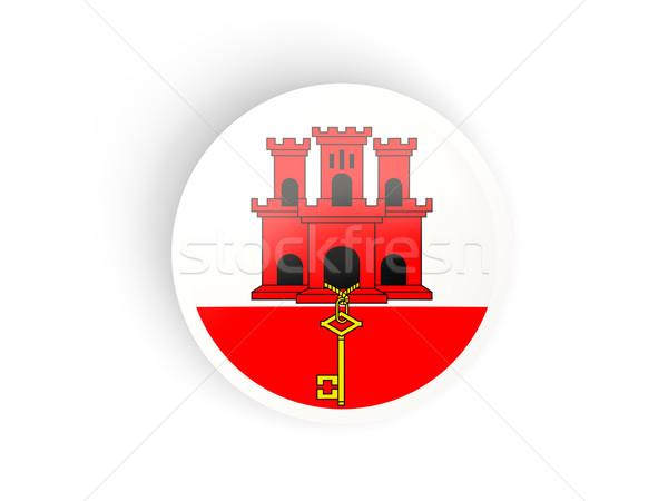 Naklejki banderą gibraltar odizolowany biały podróży Zdjęcia stock © MikhailMishchenko