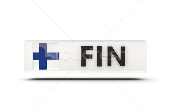 Vierkante icon vlag Finland iso code Stockfoto © MikhailMishchenko