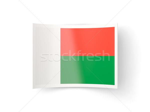 икона флаг Мадагаскар изолированный белый стране Сток-фото © MikhailMishchenko