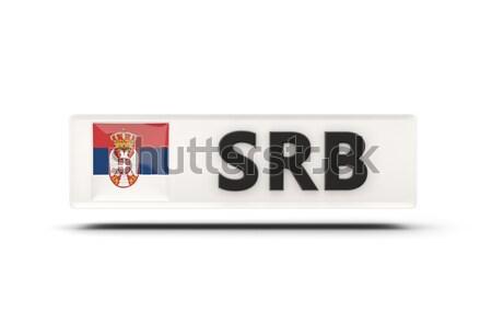 Amour Serbie signe isolé blanche coeur Photo stock © MikhailMishchenko