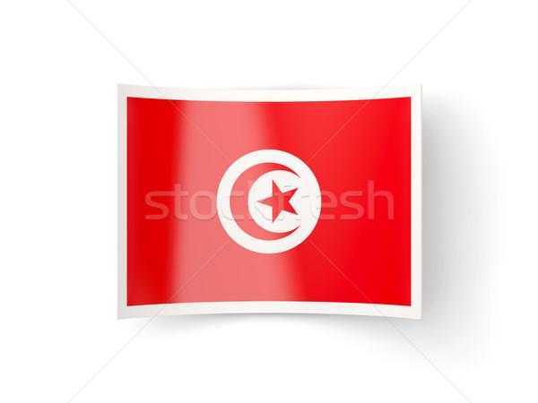 икона флаг Тунис изолированный белый стране Сток-фото © MikhailMishchenko