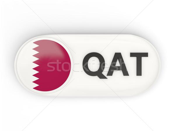 Round icon with flag of qatar Stock photo © MikhailMishchenko