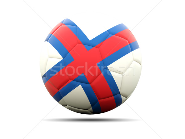 Football with flag of faroe islands Stock photo © MikhailMishchenko
