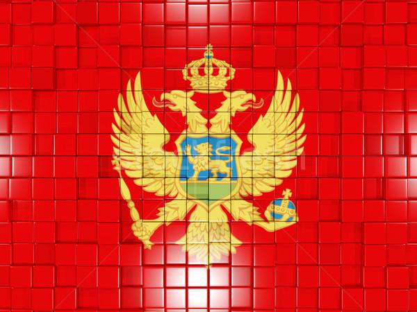 квадратный флаг Черногория 3D мозаика Сток-фото © MikhailMishchenko