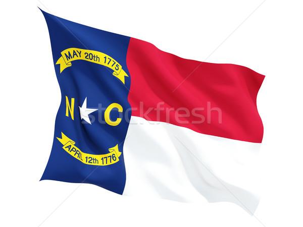 Zászló észak izolált fehér 3d illusztráció Stock fotó © MikhailMishchenko