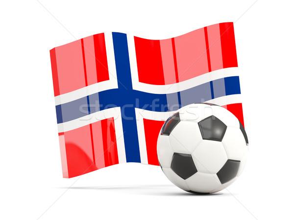 Foto d'archivio: Calcio · bandiera · isolato · bianco · illustrazione · 3d