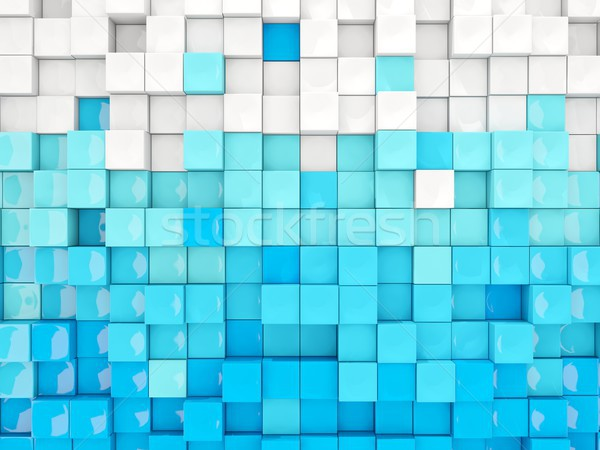 Blue and white background with industrial pattern Stock photo © MikhailMishchenko