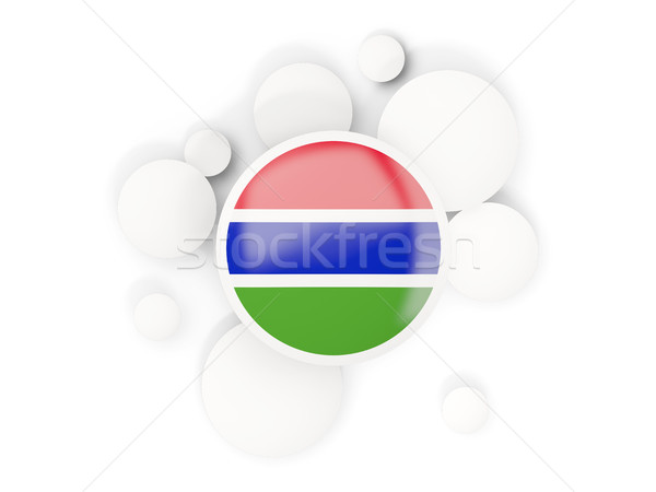 Stock photo: Round flag of gambia with circles pattern