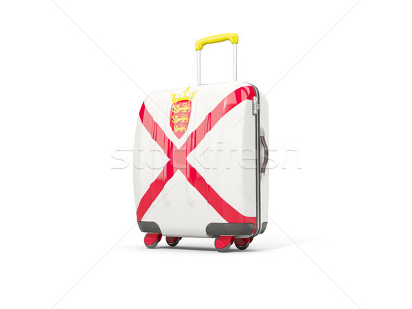 Luggage with flag of jersey. Suitcase isolated on white Stock photo © MikhailMishchenko