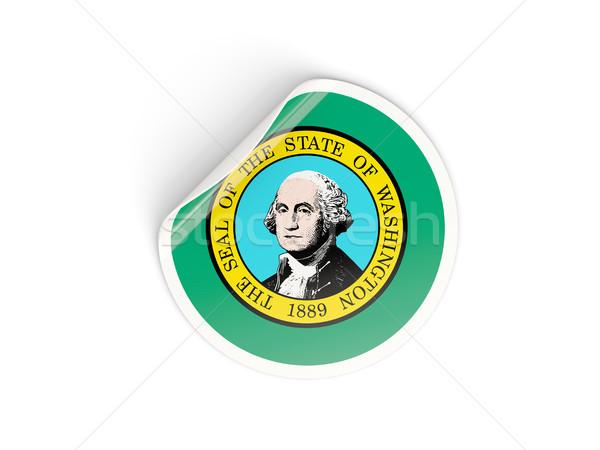 Zászló matrica izolált fehér 3d illusztráció Amerika Stock fotó © MikhailMishchenko
