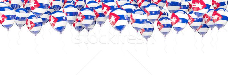 風船 フレーム フラグ キューバ 孤立した 白 ストックフォト © MikhailMishchenko