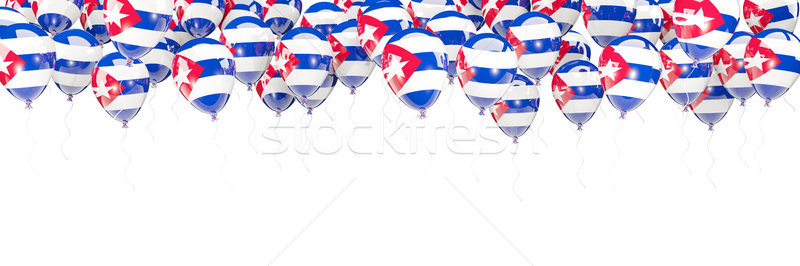 Balloons frame with flag of cuba Stock photo © MikhailMishchenko