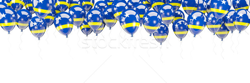 Balloons frame with flag of curacao Stock photo © MikhailMishchenko